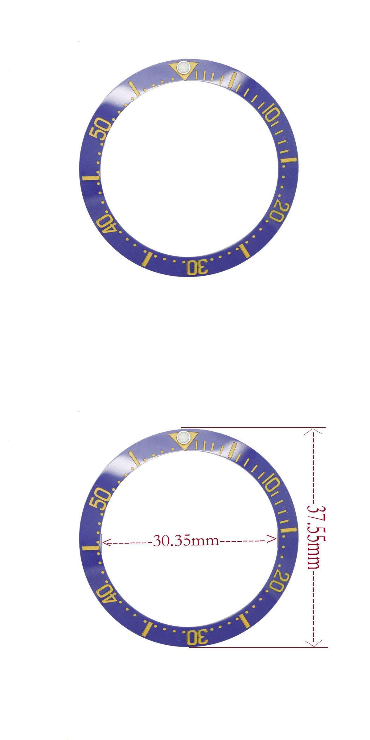 Bezels and Inserts 57714: New Blue Ceramic Bezel Insert For
