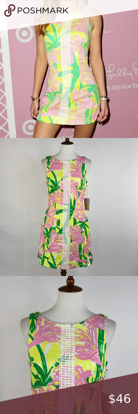 Lilly Pulitzer For Target Yellow Green Shift Mini Lilly Pulitzer Target Mini Shift Dress Target Summer Dresses [ 1740 x 580 Pixel ]