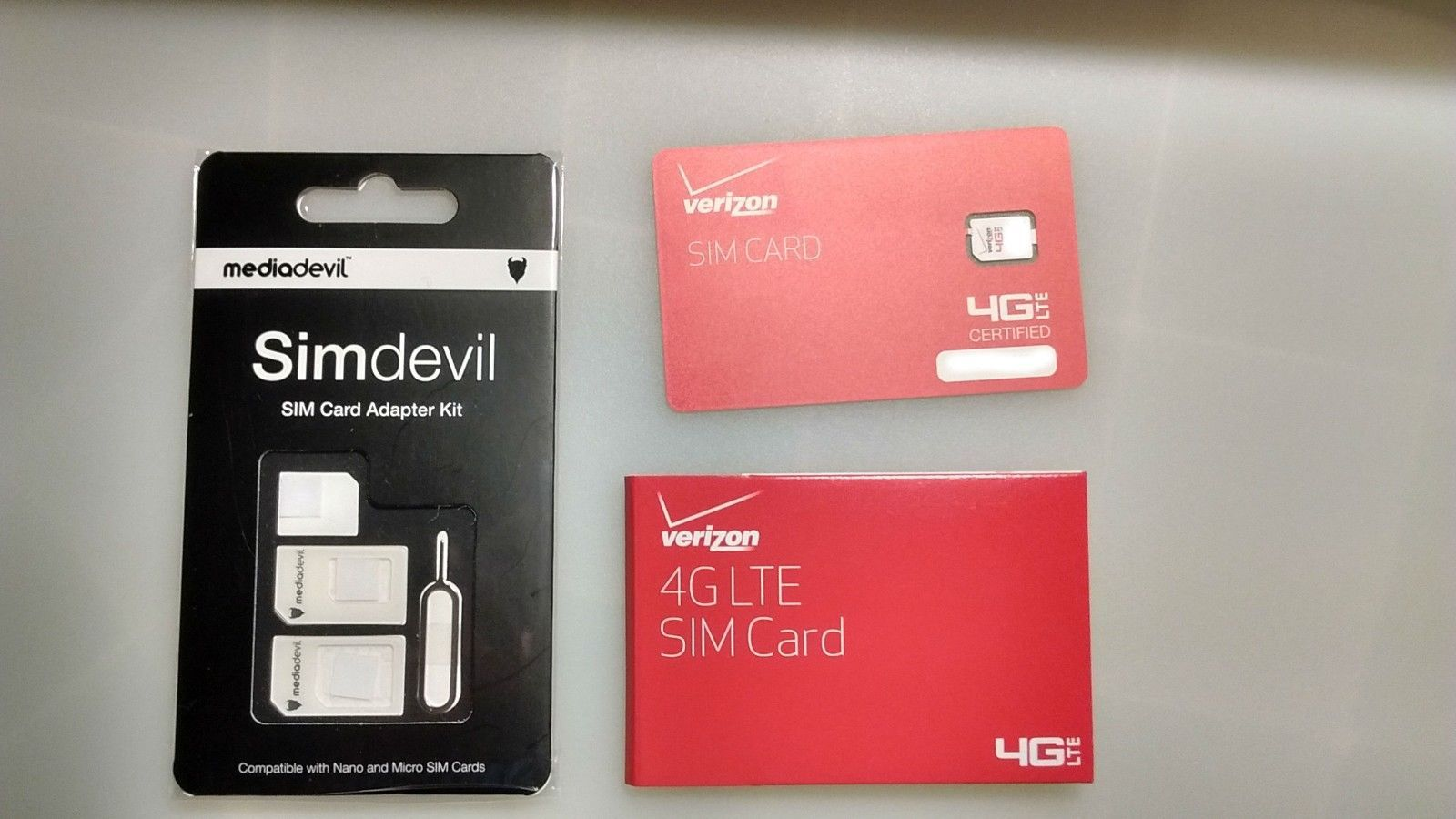 SIM Cards 29778 Verizon Unlimited Data 4G Lte No