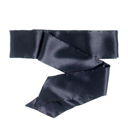 """Maybe with this, since I need to """"winterize"""" a strapless, knee length dress. J.Crew - Crystal-studded cummerbund"""