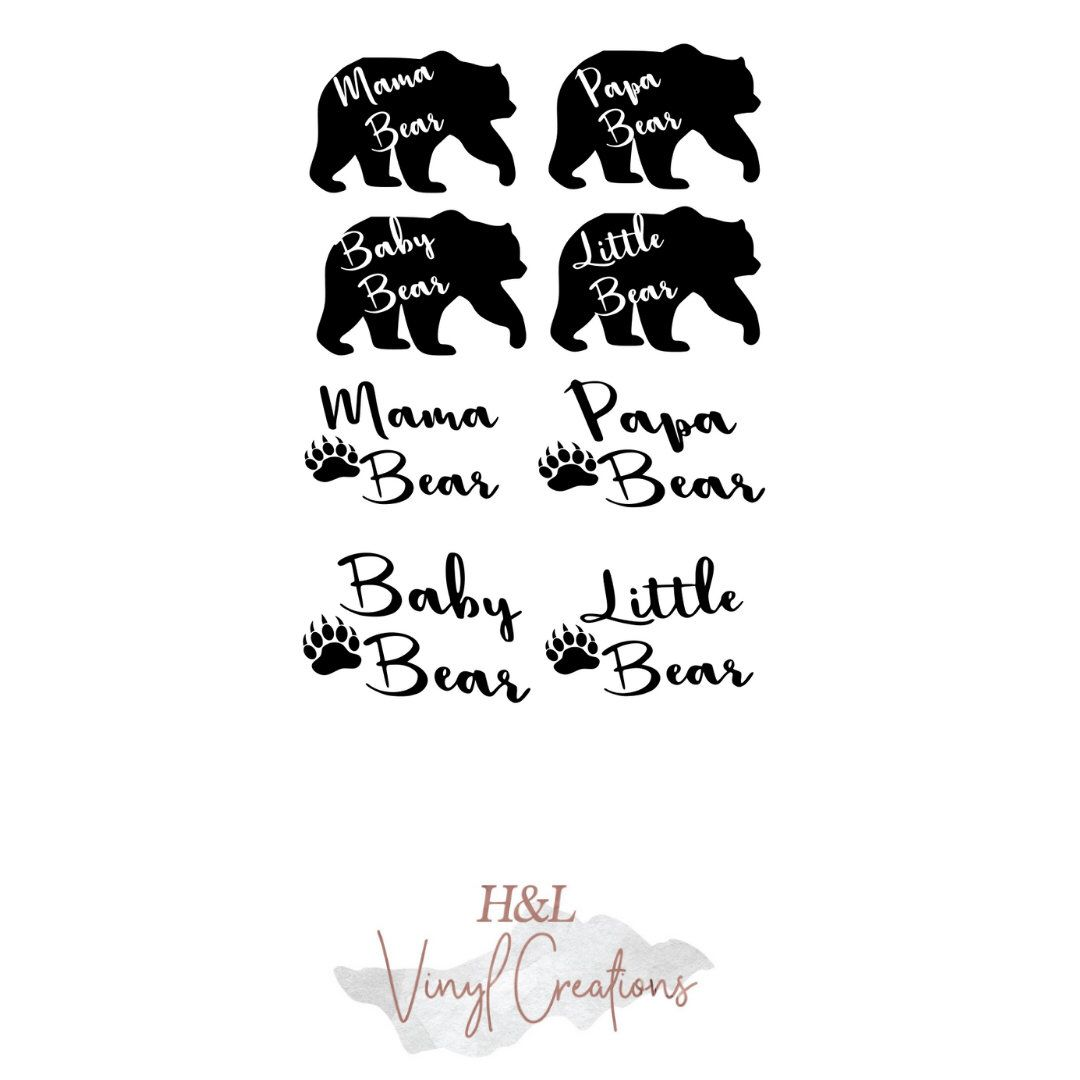 Bear family SVG//Digital download//Cricut//Silhouette//SVG