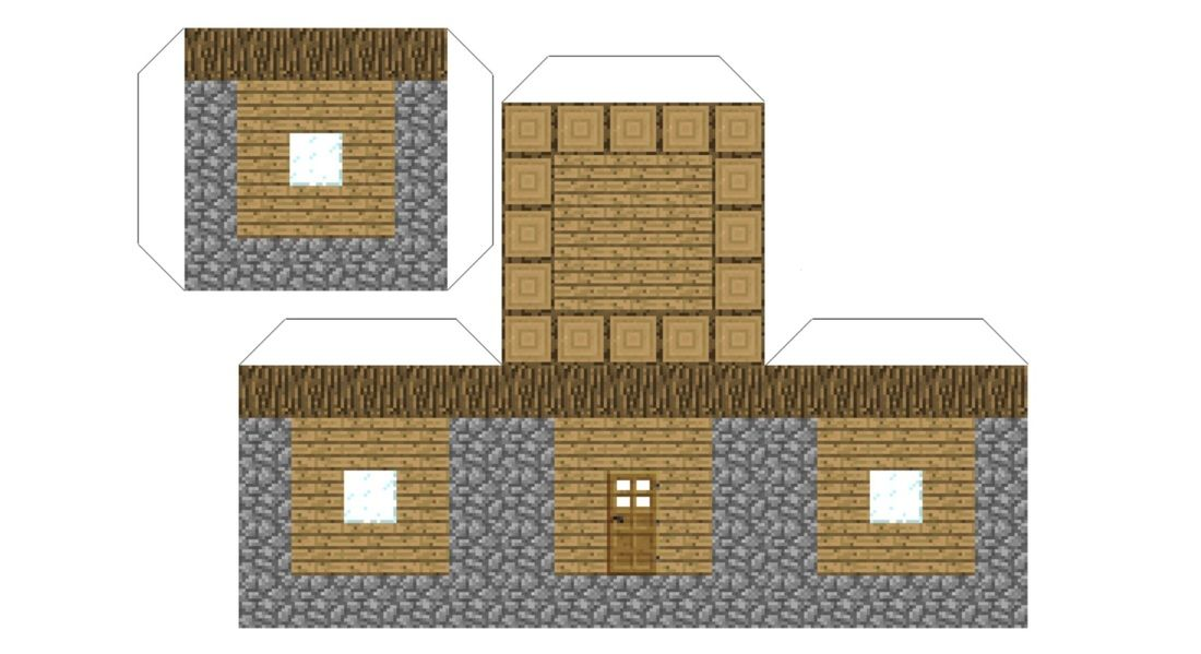 printable small house foldables | npc library | blue ninja