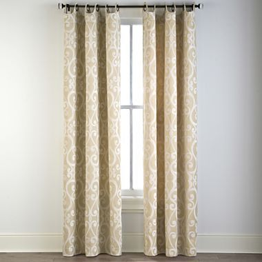 Kitchen Cindy Crawford Style 174 Palais Grommet Top Drapery