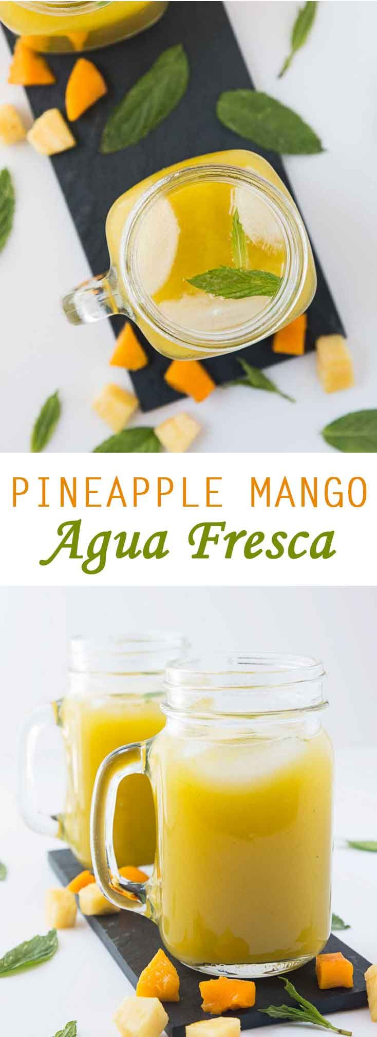 Pineapple Mango Agua Fresca