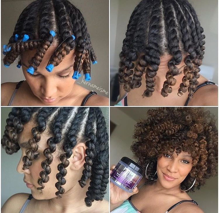 Twist Out On Natural Hair Natural Hair Styles Short Curly Hair Hair Styles