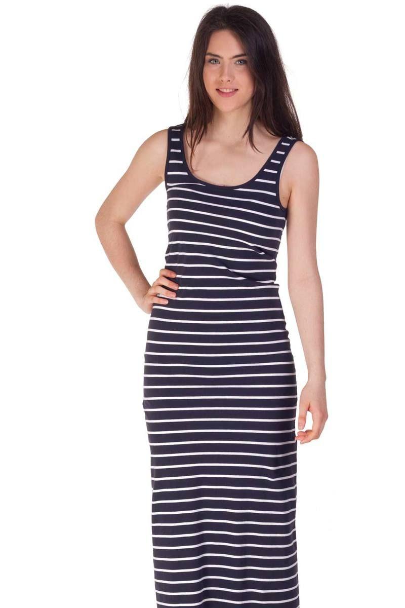 best service ea59b e6d23 Vestito a righe bianco e nero lungo | moda vestiti | Vestito ...