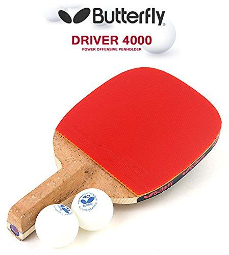 Man Cave Butterfly Driver 4000 Table Tennis Racket Penholder Paddle Ping Pong