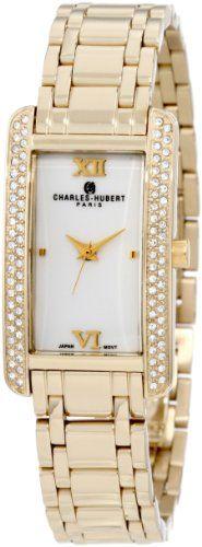 Charles-Hubert, Paris Women's 6668-WM Premium Collection Gold-Plated Stainless Steel Watch -