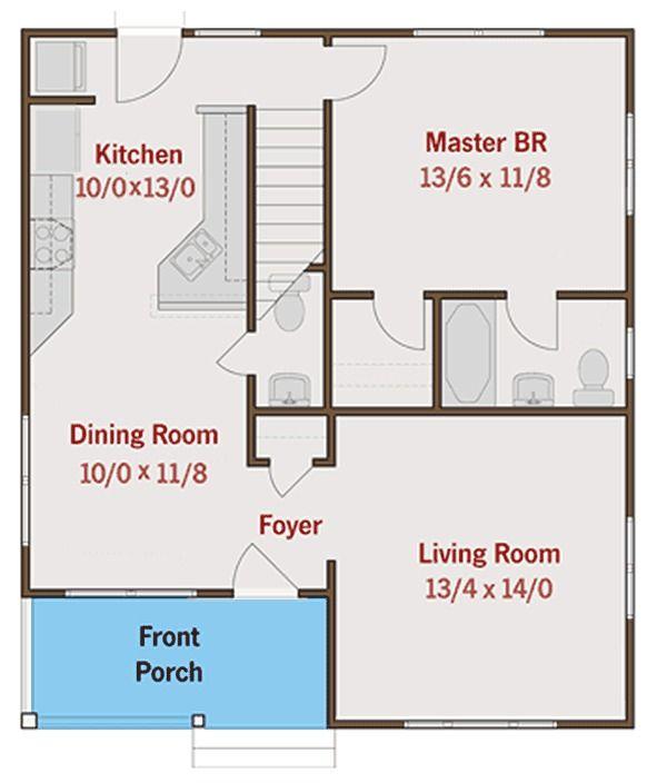 Plan 50114PH Efficient Bungalow with Main Floor Master Bungalow