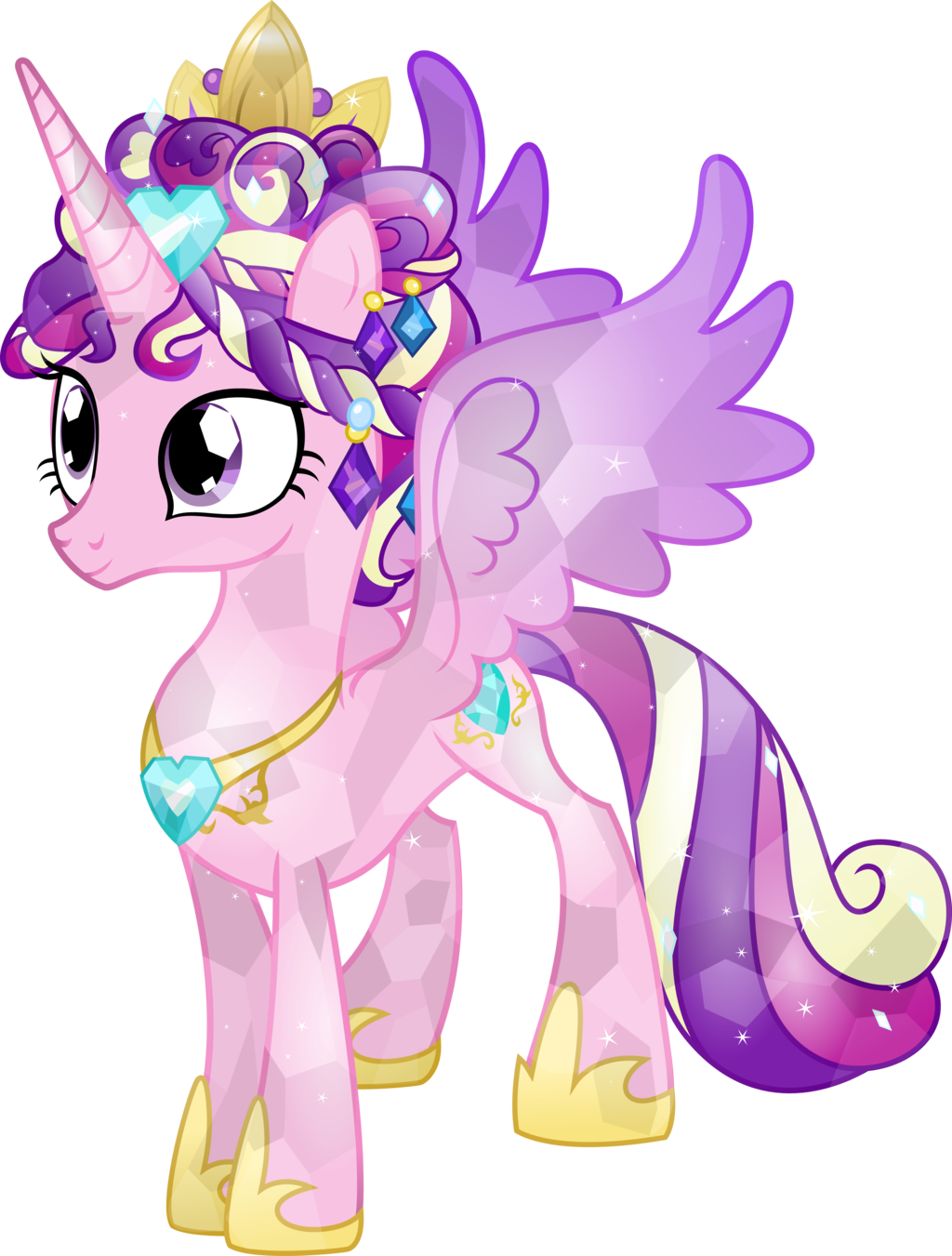 Behold the crystal princess by - Princesse poney ...