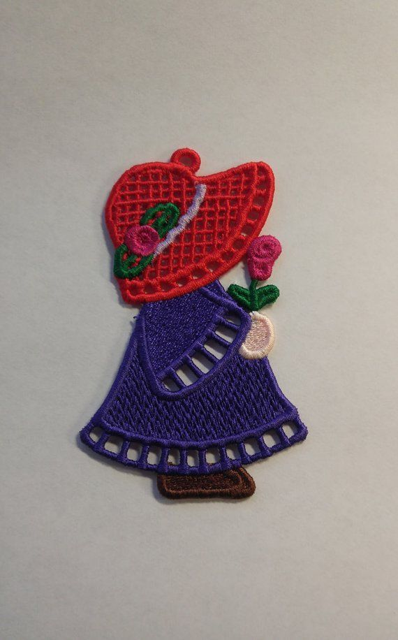 Red Hat FSL - Sun Bonnet Sue FSL - Red Hat Sun Bonnet Sue FSL- 4x4 embroidery design - Free Standing Lace - Red Hat Sun Bonnet Sue Ornament #sunbonnetsue Red Hat FSL - Sun Bonnet Sue FSL - Red Hat Sun Bonnet Sue FSL- 4x4 embroidery design - Free Standing #sunbonnetsue