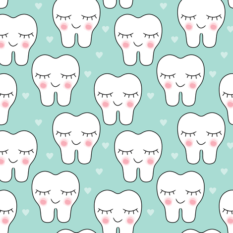 Smiling Teeth And Hearts Dental Wallpaper Cute Tooth Dental Kids