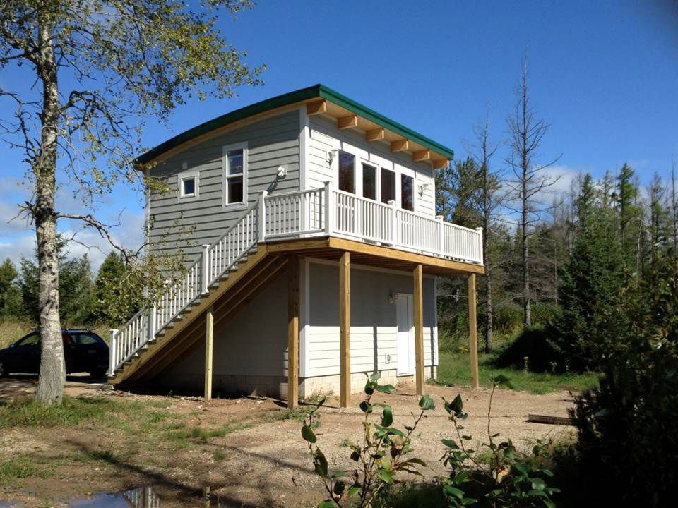 Lovely 2 Story Cabin Kits #6: Small Prefab Homes - Prefab Cabins: Maxwell - One And Two Story Prefab  Cabins Byu2026