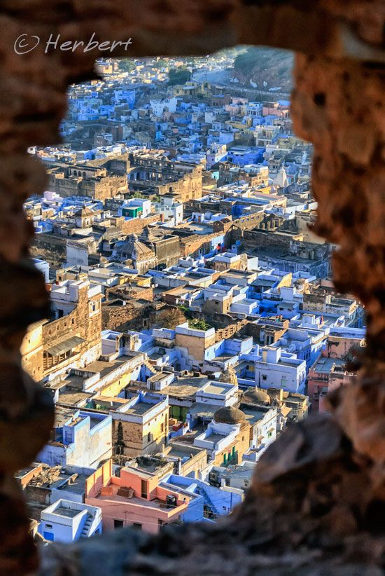 A peep of the blues.. Rajasthan THE BLUE CITY OF JODHPUR