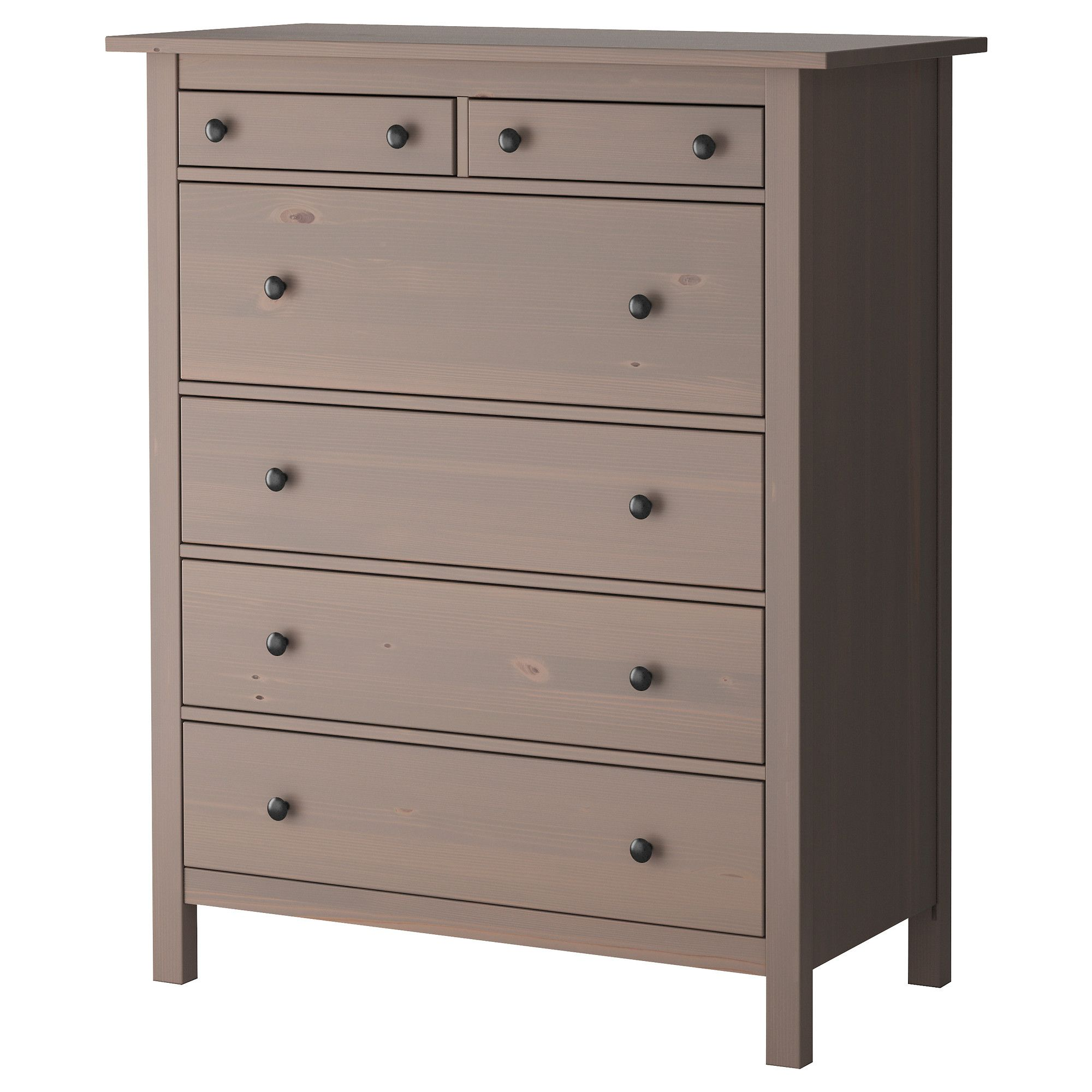 HEMNES Chest Of 6 Drawers - Grey-brown - IKEA