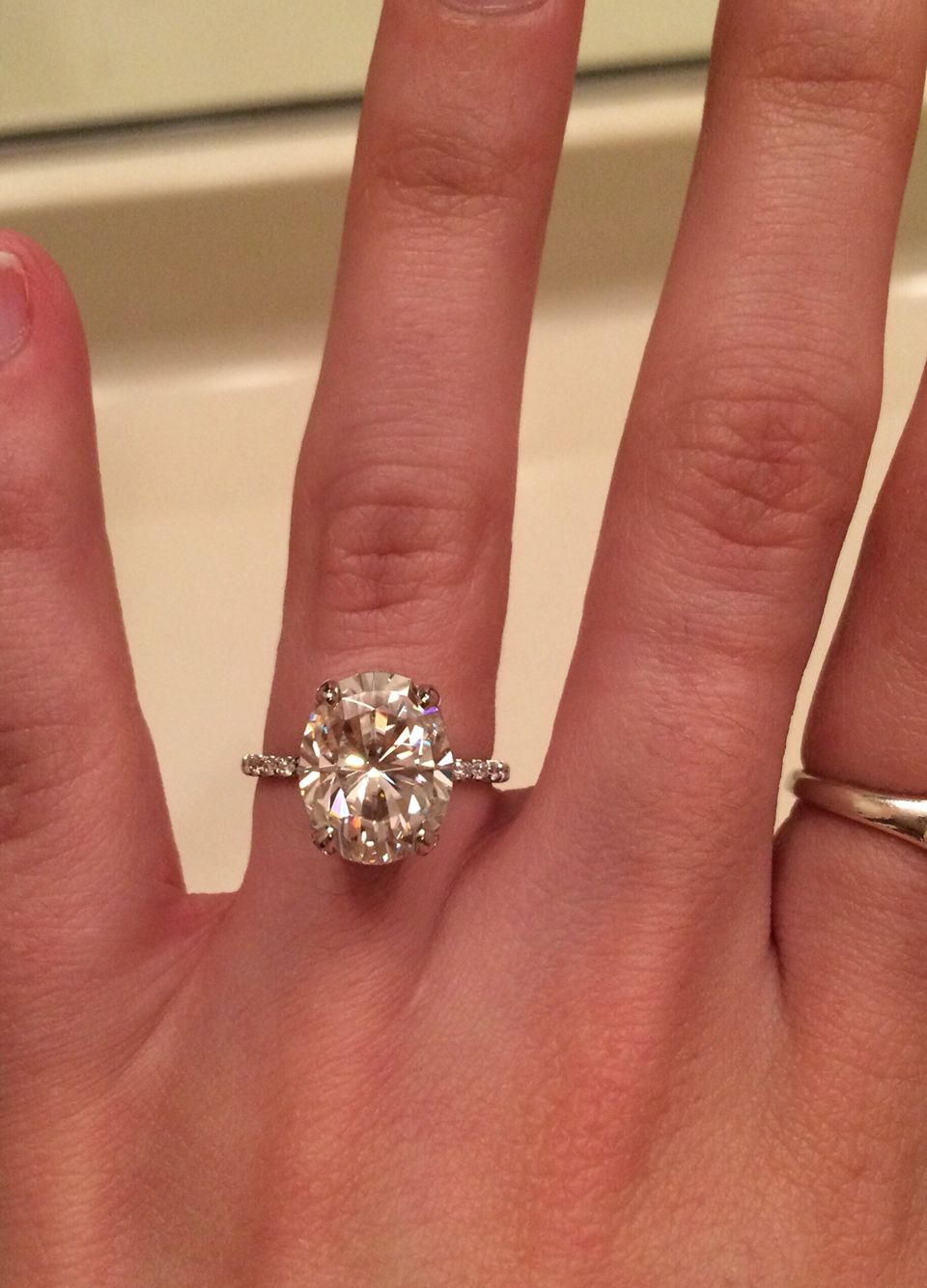 Find This Pin And More On Ring: Oval Engagement Rings 11x9 Oval Moissanite