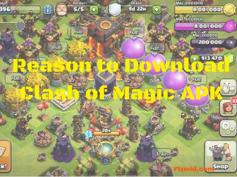 Clash of Magic APK works on the private servers of the clash of