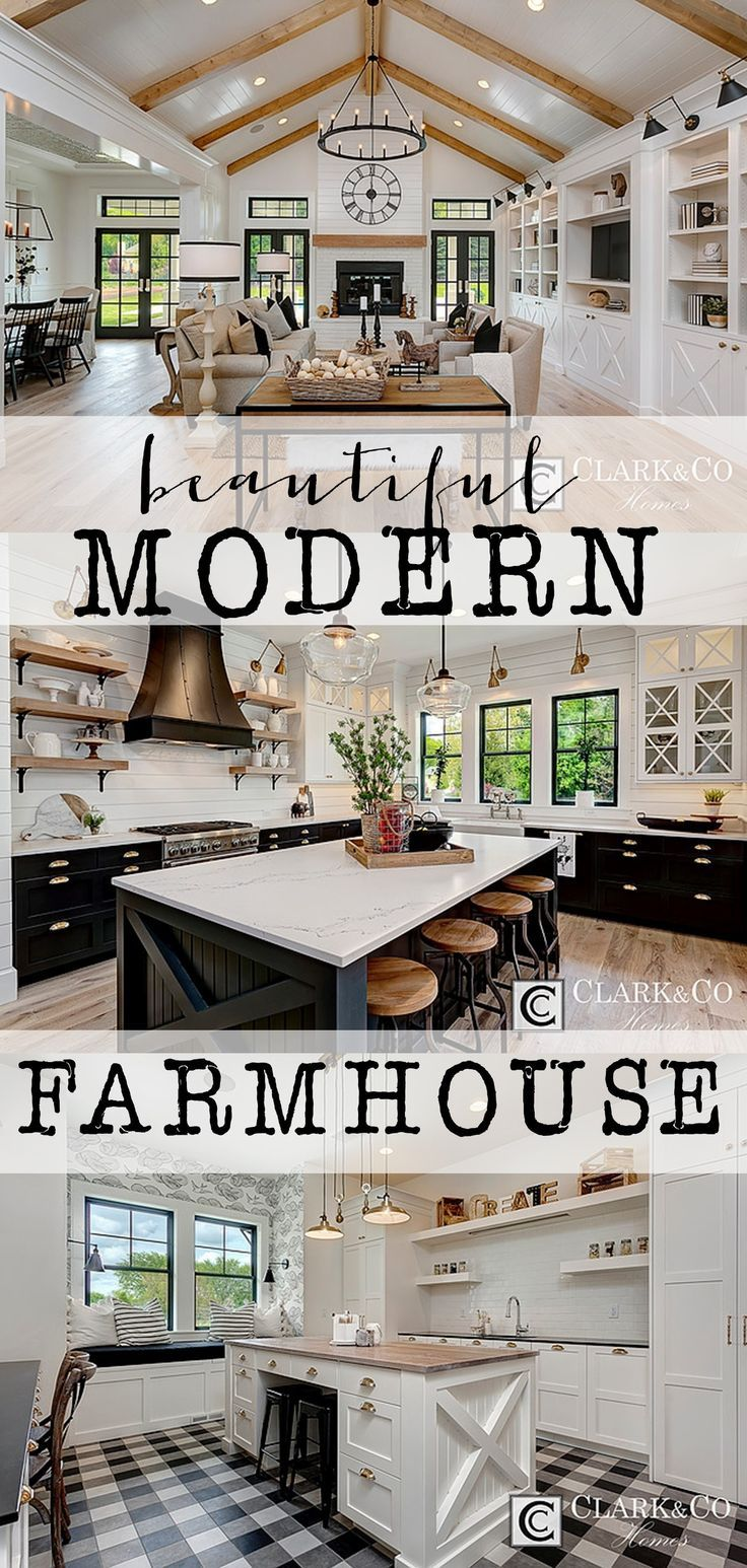This modern farmhouse is absolutely stunning. Each ro… | Decorating ...