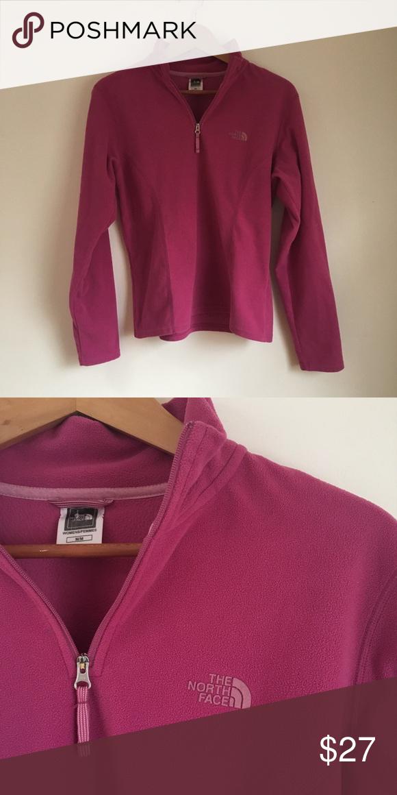 480b37e8c NWOT The North Face Fleece Pullover Jacket Pink/magenta color ...