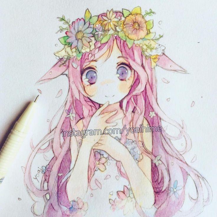 5bdc33d9e4fcf33254d115835dc48072 Watercolor Anime Chibi Jpg 736 736 Anime Art Manga Art Cute Drawings