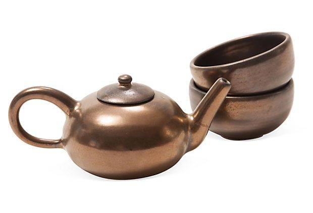Miniature Tea Set, 3 Pcs. on OneKingsLane.com