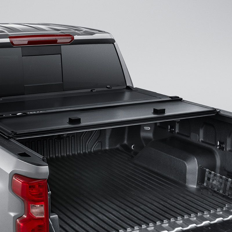 2019 Silverado 1500 Tonneau Cover Hard Tri Fold Black Short Box