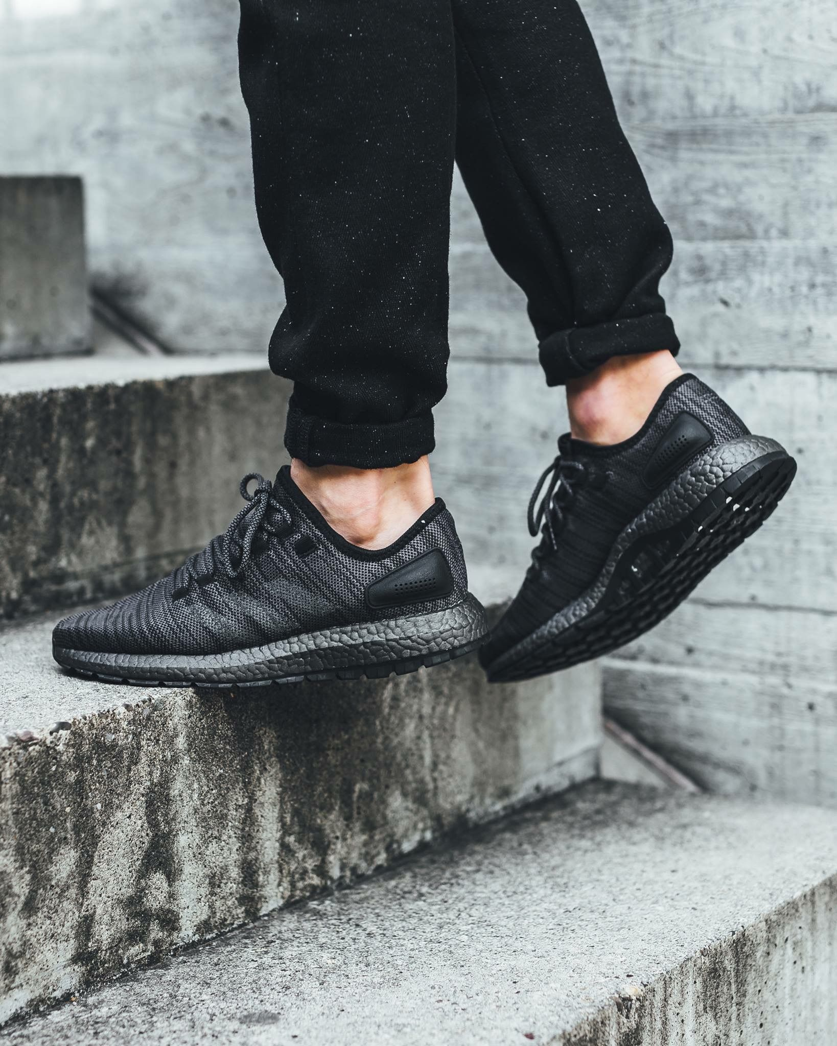 buy online 5de68 aa907 adidas Originals Pure Boost DPR  Triple Black