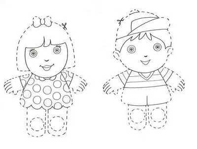 Titeres de papel recortables para niños | Titeres | Pinterest ...