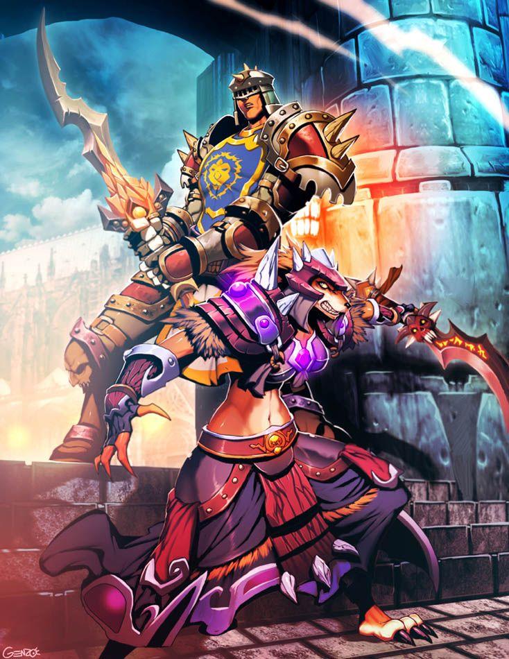 Bethrezen And Adyria By Genzoman Deviantart Com On Deviantart Warcraft Art Warcraft World Of Warcraft