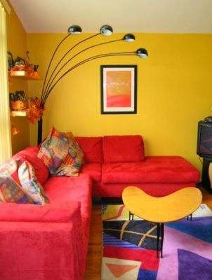 Bright Yellow and Red Room | My place | Pinterest | Red rooms ...
