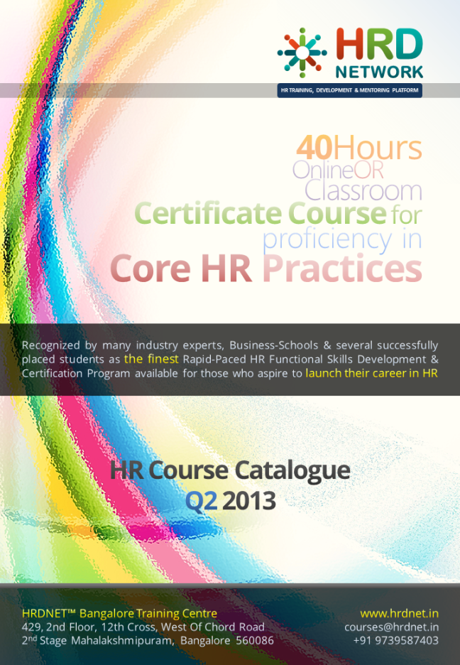 Hr Certification Course Brochure Pg 1 Download The Full