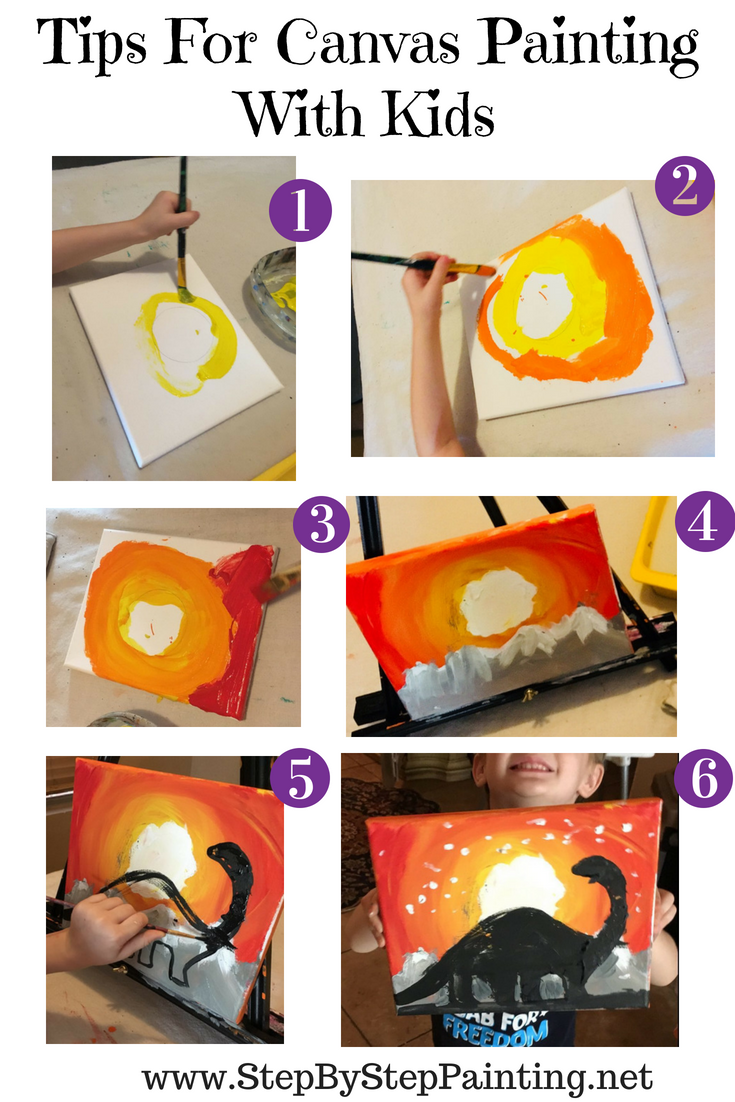 Painting For Kids Step By Step Canvas Painting Online