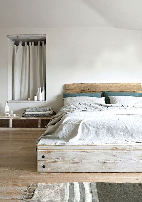 Slaapkamer inrichten met steigerhouten bedden | Slaapkmr | Pinterest ...