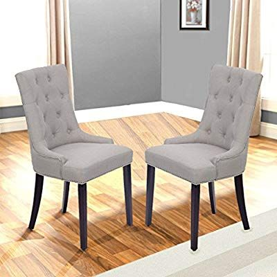 Best Amazon Com Dining Chair Set Of 2 Fabric Accent Room Side 400 x 300