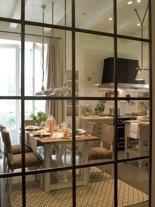 Puerta de hierro y cristal buscar con google kitchen - Puerta cocina cristal ...
