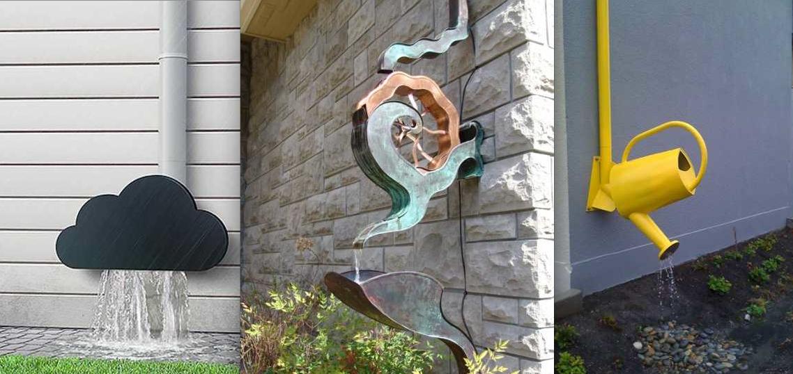 Awkward Rain Gutter Downspout Google Search Rain Chain Garden Art Garden Projects
