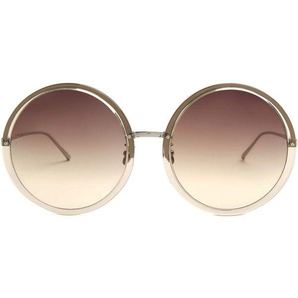 Oversized round-frame sunglasses Linda Farrow pIP40