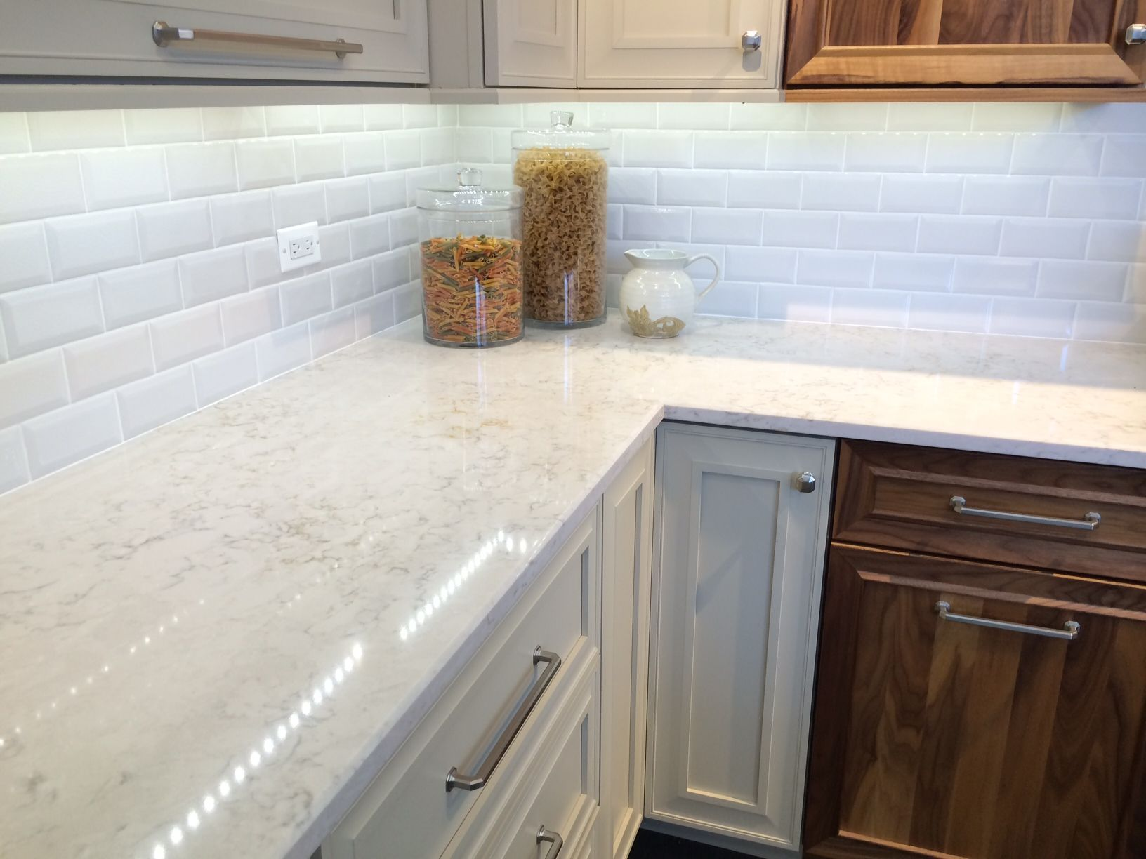 countertops countertop and attractive quartz designed white inviting cabinets distressed kitchen with