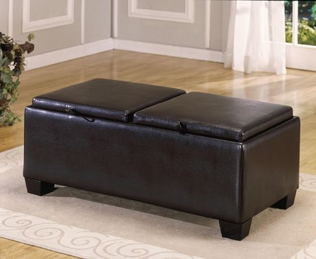 Miraculous Topline Home Furnishings Brown Cocktail Ottoman Brown In Caraccident5 Cool Chair Designs And Ideas Caraccident5Info