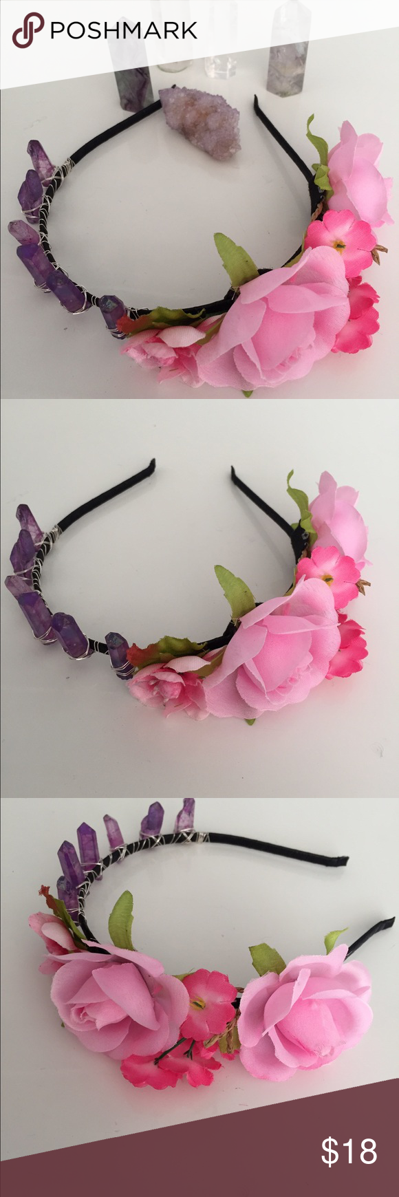 Perfect Flower Crown Handmade New Gemstone Flower Crown The Stone Is
