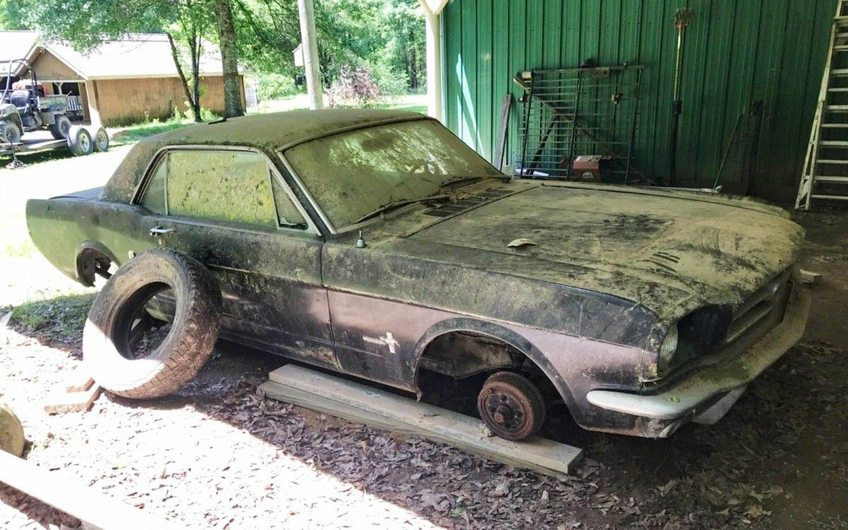 Authentic barn find 1965 ford mustang coupe barnfinds ford https