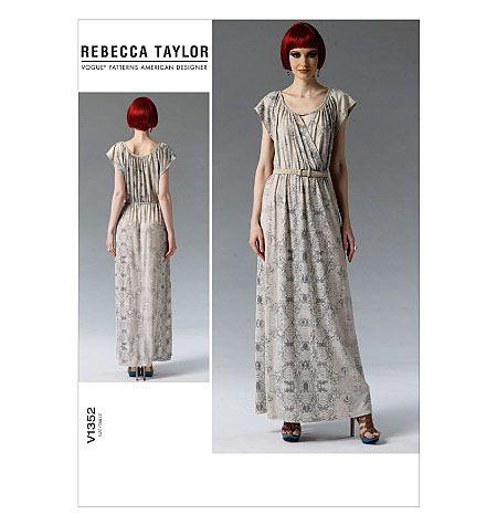 V1352, Misses' Dress