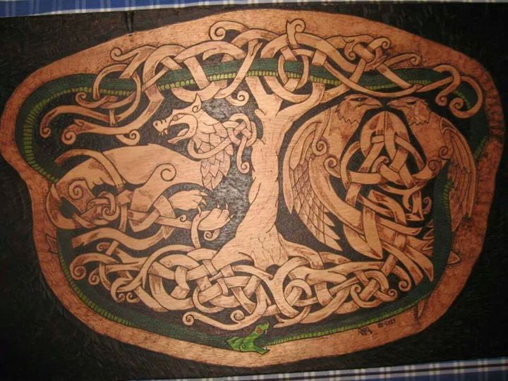 The World Tree, Yggdrasil; Odin's Ravens, Huginn & Muninn ...