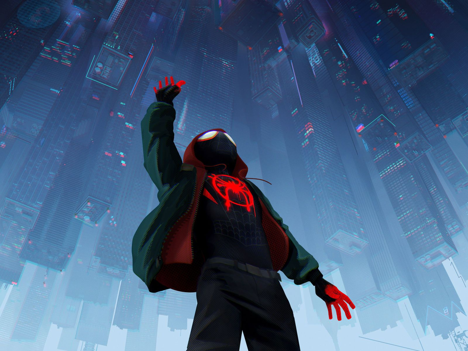 Spiderman Into The Spiderverse 2018 Official Poster Hd 8k Wallpaper Spider Verse Spiderman Animated Movies