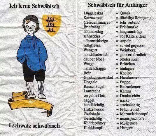 Schwaebisch Platt   Schwäbisch, Schwäbische sprüche, Lernen