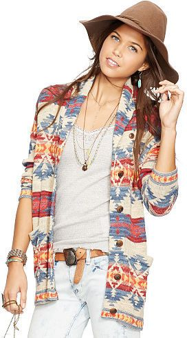 Ralph Lauren Denim & Supply Cotton Boyfriend Cardigan ...