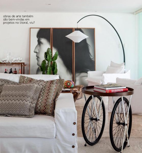 Elementos originales en un hogar una decoraci n a partir de bicicletas reciclando pinterest - Mesitas auxiliares originales ...