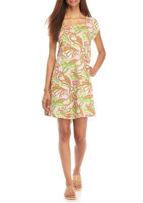 a6b4d3aceeb Crown   Ivy™ Women s Paisley Swing Dress - Pink Green - Xl