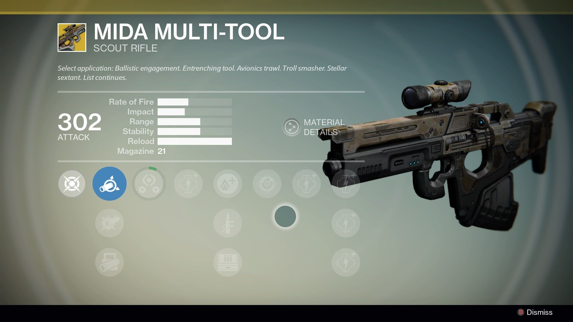 Mida Multi-Tool/ exotic scout rifle