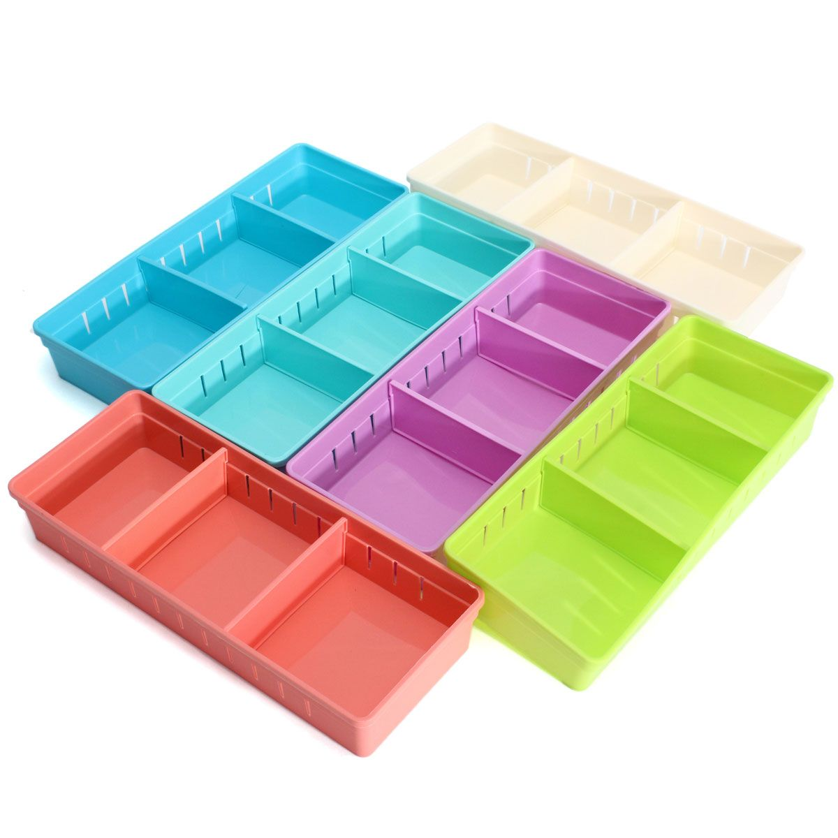 Adjustable Makeup Storage Box Drawer Home Kitchen Jewelry Organizer
